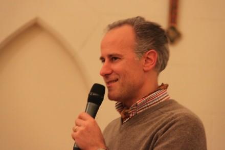 Arnaud David, de Talenthéo, animateur de la soirée