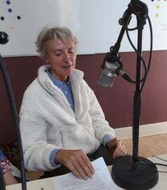 Marie Lhoest au micro d'1RCF