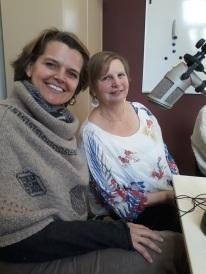 Corinne d'Oreye et Anne-Françoise Désirant au micro d'1RCF