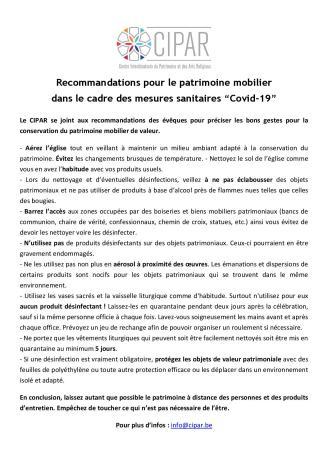 CIPAR - Recommandations